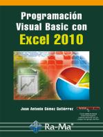 Programación Visual Basic con Excel 2010: Hojas de cálculo