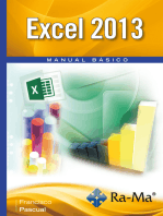 Excel 2013. Manual Básico: Hojas de cálculo