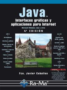 JAVA. Interfaces gráficas y aplicaciones para Internet. 4ª Edición.: Ofimática