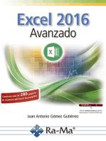 Excel 2016 Avanzado: Hojas de cálculo