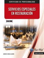 Servicios Especiales en Restauración. (MF1054_2)