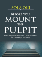 Before You Mount The Pulpit