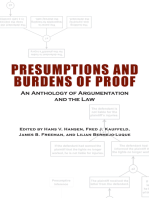 Presumptions and Burdens of Proof: An Anthology of Argumentation and the Law
