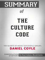 Summary of The Culture Code: The Secrets of Highly Successful Groups | Conversation Starters