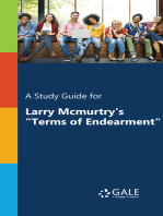 """A Study Guide for Larry McMurtry's """"Terms of Endearment"""""""