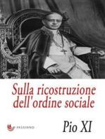 Sulla ricostruzione dell'ordine sociale