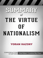 Summary of The Virtue of Nationalism by Yoram Hazony   Conversation Starters