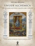 Un'Ode Alchemica di Fra Marcantonio Crasellame Chinese