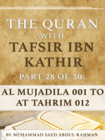 The Quran With Tafsir Ibn Kathir Part 28 of 30