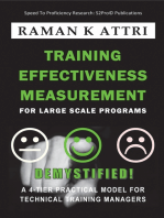 Training Effectiveness Measurement for Large Scale Programs - Demystified!