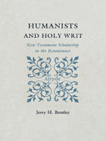 Humanists and Holy Writ