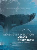 Genesis to Revelation Minor Prophets Participant Book [Large Print]