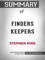 Summary of Finders Keepers by Stephen King   Conversation Starters