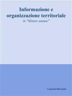 Informazione e organizzazione territoriale