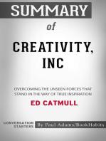 Summary of Creativity, Inc