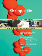 Risk appetite A Complete Guide - 2019 Edition