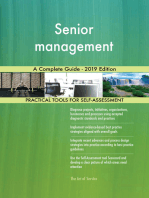Senior management A Complete Guide - 2019 Edition