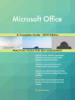 Microsoft Office A Complete Guide - 2019 Edition