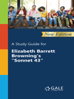 "A Study Guide (New Edition) for Elizabeth Barrett Browning's ""Sonnet 43"""