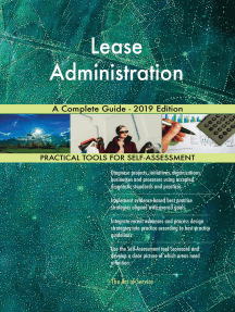 Lease Administration A Complete Guide - 2019 Edition
