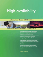 High availability A Complete Guide - 2019 Edition