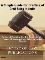 Simple Guide for Drafting of Civil Suits in India