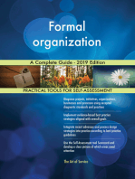 Formal organization A Complete Guide - 2019 Edition
