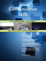 Communication Skills A Complete Guide - 2019 Edition