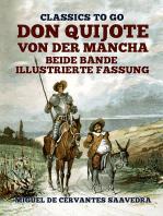 Don Quijote von der Mancha Beide Bände Illustrierte Fassung