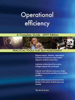 Operational efficiency A Complete Guide - 2019 Edition