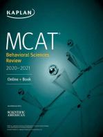 MCAT Behavioral Sciences Review 2020-2021: Online + Book