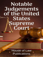 Notable Judgements of the United States Supreme Court