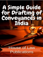 A Simple Guide for Drafting of Conveyances in India