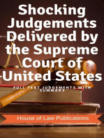 Shocking Judgements Delivered by the Supreme Court of United States