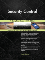 Security Control A Complete Guide - 2019 Edition