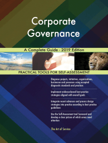 Corporate Governance A Complete Guide - 2019 Edition