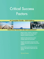 Critical Success Factors A Complete Guide - 2019 Edition