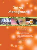 Survey Management A Complete Guide - 2019 Edition