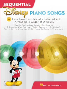 Sequential Disney Piano Songs: 24 Easy Favorites Carefully Selected and Arranged in Order of Difficulty
