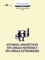 Estudos Linguísticos em Língua Materna e em Língua Estrangeira