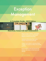Exception Management A Complete Guide - 2019 Edition