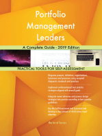 Portfolio Management Leaders A Complete Guide - 2019 Edition