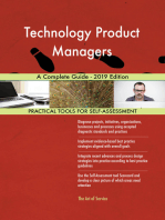 Technology Product Managers A Complete Guide - 2019 Edition