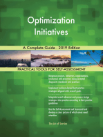 Optimization Initiatives A Complete Guide - 2019 Edition