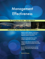 Management Effectiveness A Complete Guide - 2019 Edition