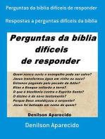 Perguntas Da Bíblia Difíceis De Responder