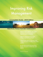 Improving Risk Management A Complete Guide - 2019 Edition