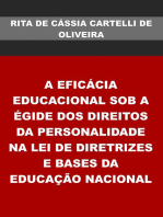 A EficÁcia Educacional Sob A Égide Dos Direitos Da Personalidade Na Lei De Diretrizes E Bases Da EducaÇÃo Nacional