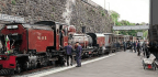 Ancient And Modern Welsh Highland Railway Stations Opened On Same Day
