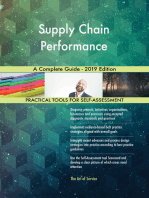 Supply Chain Performance A Complete Guide - 2019 Edition